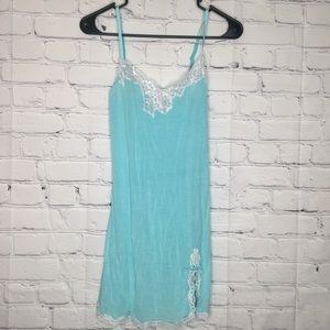Victoria's Secret teal & white lace babydoll